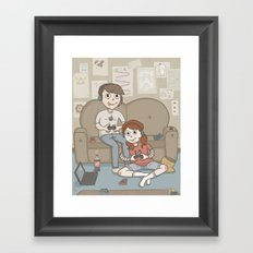 A couple who game together stay together Framed Art Print