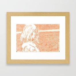 subway woman IX Framed Art Print