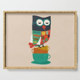 Morning Owl Serving Tray