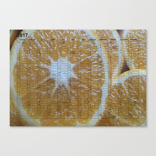 Kalender 2017 Orange Canvas Print