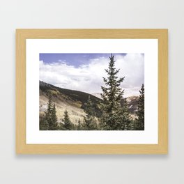 Happiness in the Mountains Framed Art Print