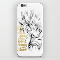 dragonball z iPhone & iPod Skins featuring Dragonball Z - Honor by Straife01