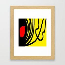 red yellow black Framed Art Print