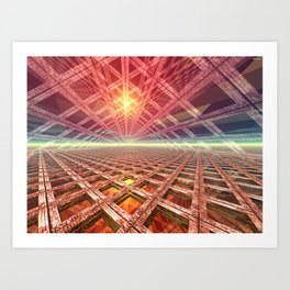 Space Portal To The Stars Art Print
