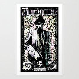 William Burroughs. Art Print