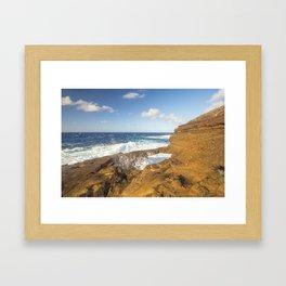 Hawaiian Sunrise Splash Framed Art Print