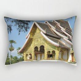 Golden Buddhist Temple, Luang Prabang, Laos Rectangular Pillow