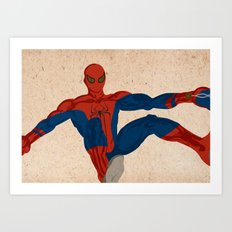 spiderman, spiderman does whatever a spider can Art Print