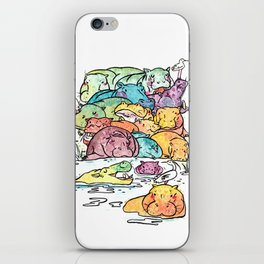 Hippo family iPhone Skin