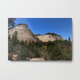 Checkerboard Mesa At Zion Metal Print