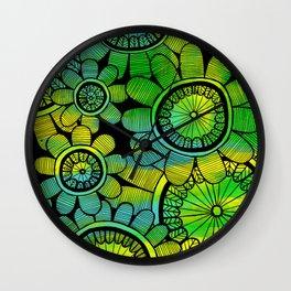 Big Floral 2 Wall Clock