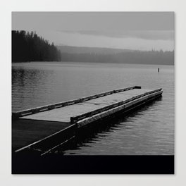 Suttle Lake in Gray and Black Canvas Print