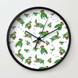 Holiday Sea Turtles Wall Clock