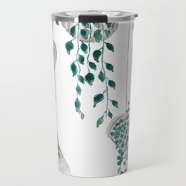 hanging plant in seashell Travel Mug