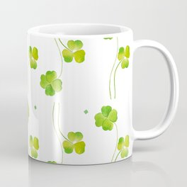 green clover leaf pattern watercolor Coffee Mug