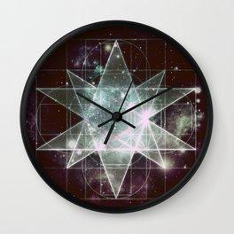 Galaxy Sacred Geometry : Stellated Icoshadron dark Wall Clock