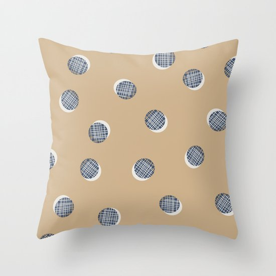Mixed Dots - in Cocoa Throw Pillow