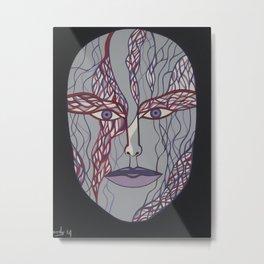 Woman's Visage purple mouth Metal Print