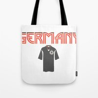 germany Tote Bags featuring Go Germany! by Bunhugger Design