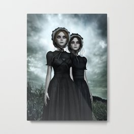Deadly Halloween Twins – They are coming Metal Print