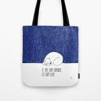 sleep Tote Bags featuring Sleep by Anais Moods