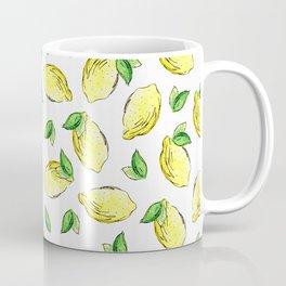 Lemon Watercolor Pattern Coffee Mug