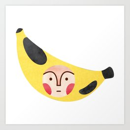 banana kid Art Print