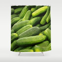 Cukes Shower Curtain