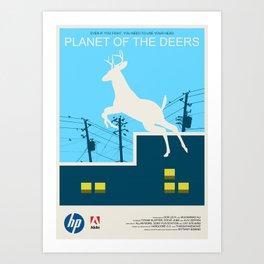 Planet of the Deers Art Print