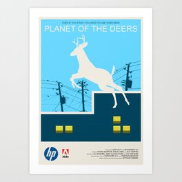 Planet of the Deers Art Print