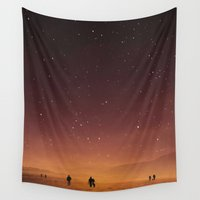 planet Wall Tapestries featuring Planet Walk by Stoian Hitrov - Sto
