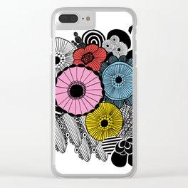 Heart in Flowers, inspired by Marimekko Clear iPhone Case