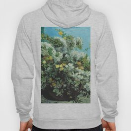 Gustave Courbet - Flowering Branches And Flowers Hoody