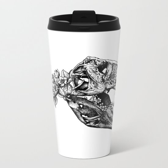 Jurassic Bloom - The Rex.  Metal Travel Mug