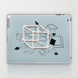 hypercube gray Laptop & iPad Skin
