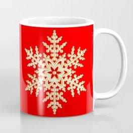 Snowflake in a Red Field Gift Coffee Mug
