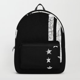 Black And White Old World American Flag Backpack