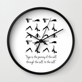 YOGA QUOTES Wall Clock