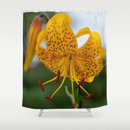 Yellow Spotted Lily by Teresa Thompson Shower Curtain