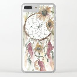 Dream catcher in earthy tones Clear iPhone Case