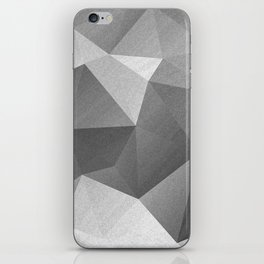 Grey polygonal geometric pattern . iPhone Skin