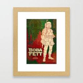 """Boba Fett Movie Poster """"Bounty Hunter"""" Giclee Art Print/ Geekery Poster / Fan Art Framed Art Print"""