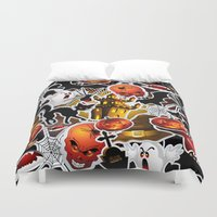 saga Duvet Covers featuring Halloween Spooky Cartoon Saga by BluedarkArt
