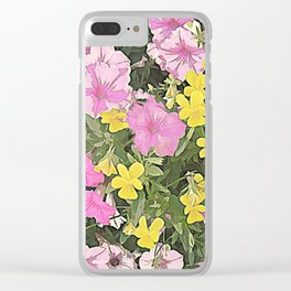 Petunias and Violas Clear iPhone Case