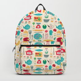 Kitchen Pattern Backpack