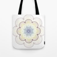 henna Tote Bags featuring Mandala Henna by Liz Slome