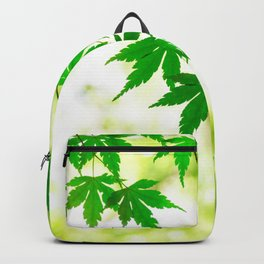 Green leaves of Japanese maple Backpack
