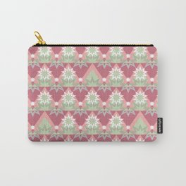 Pale pink abstract striped ornament . Carry-All Pouch