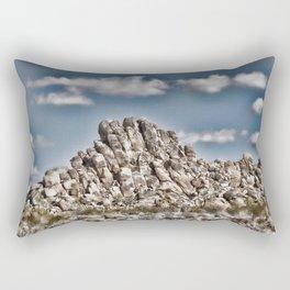 Rock Pile - Painterly Rectangular Pillow