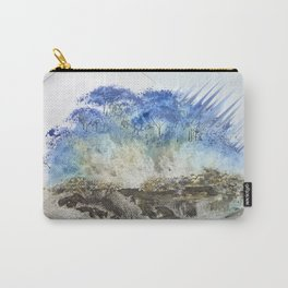 A Misty Island with Waterfalls Carry-All Pouch